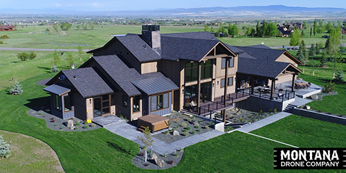 Montana Drone Real Estate Housing Aerial Photo